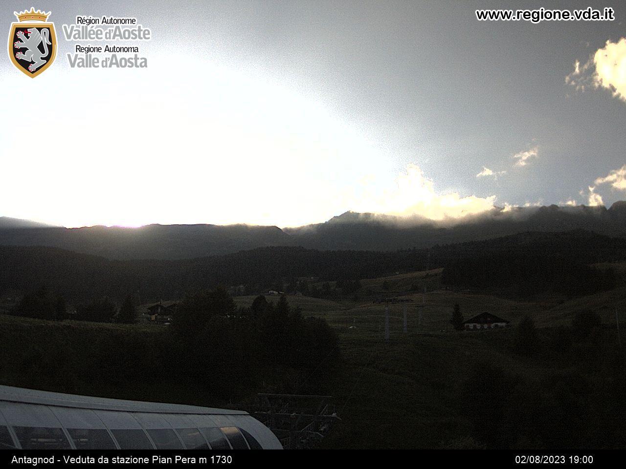 Monterosa-ski  Ayas-Antagnod - Veduta da Pian Pera
