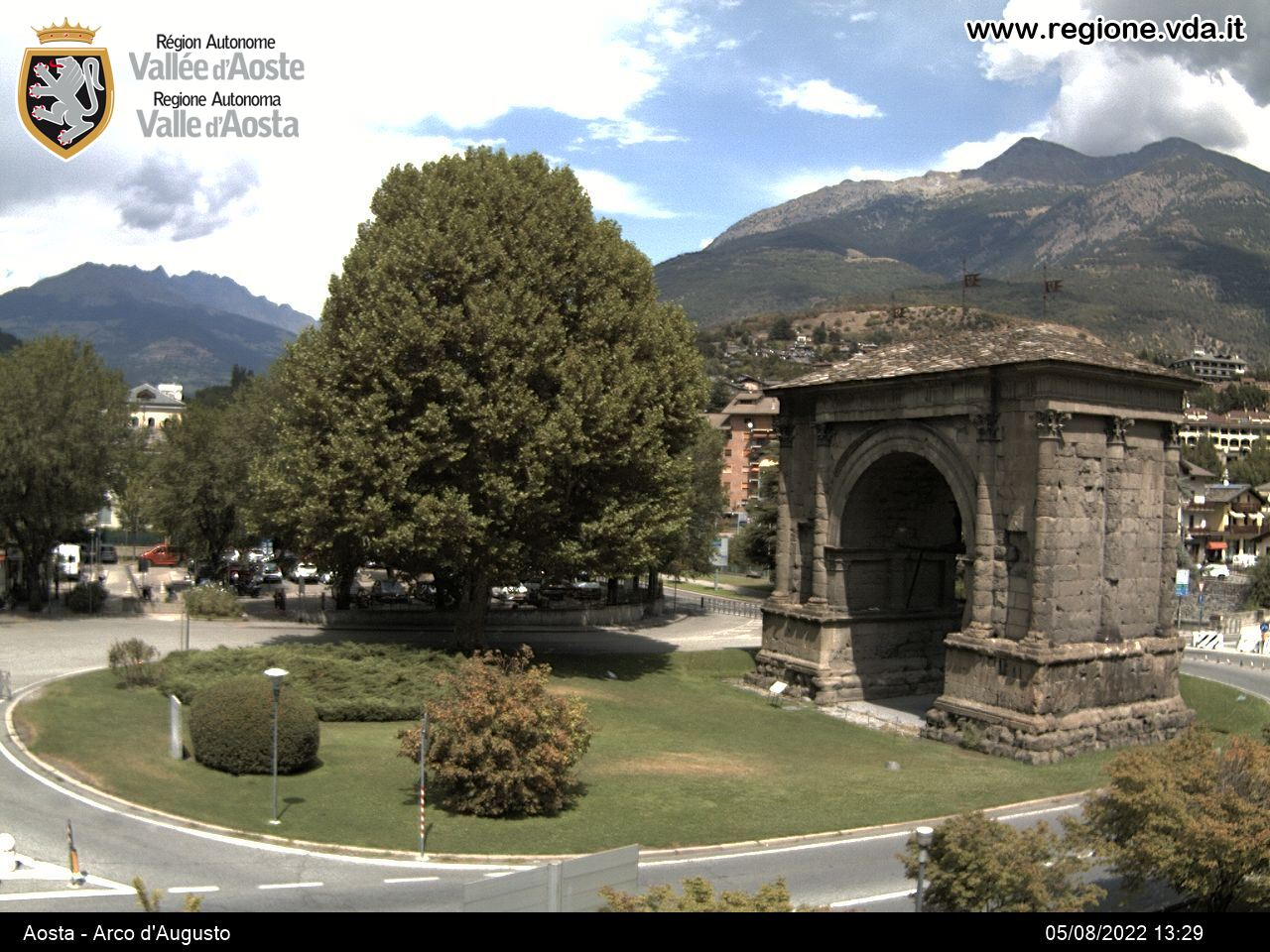 Webcam Arco d'Augusto - Aosta