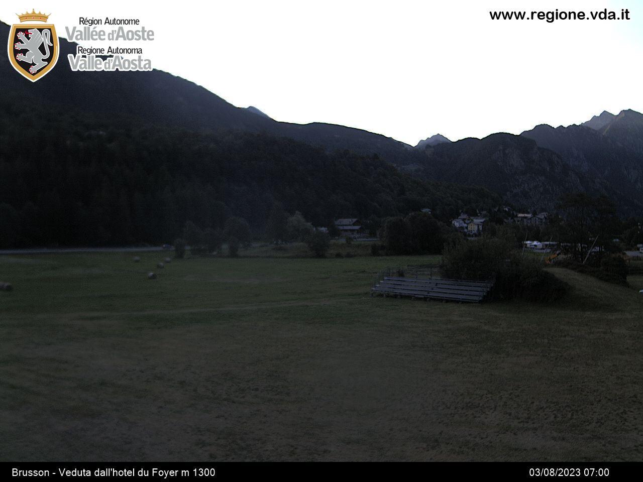 Webcam en Brusson, Monterosa Ski (Alpes Italianos)