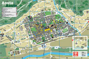 Map of Aosta