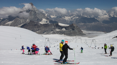Summer skiing in Breuil-Cervinia