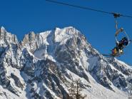Skier en grand à Courmayeur