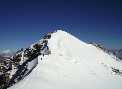 The final ridge before the top