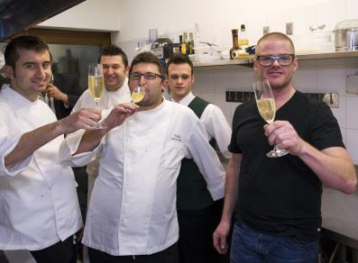 Heston Blumenthal and his team