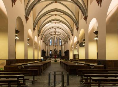 The cathedral inside