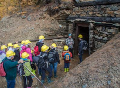 Guided tour of the mine galleries