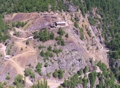 Aerial view of the mine
