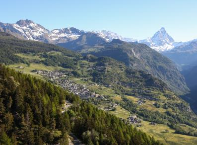 Torgnon and the Matterhorn