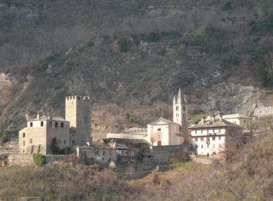 The church and the Blonay castle