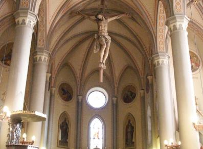 The inside of the Church of San Martino - Torgnon