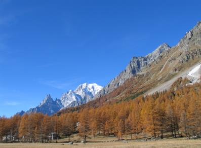 Monte Bianco as seen from Val Ferret - Courmayeur