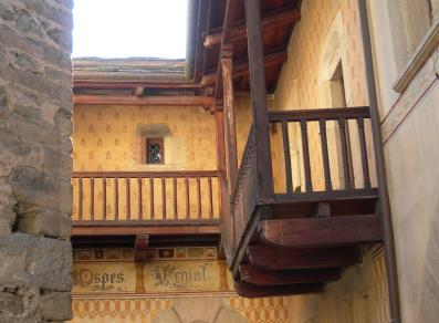 Balcony over the courtyard
