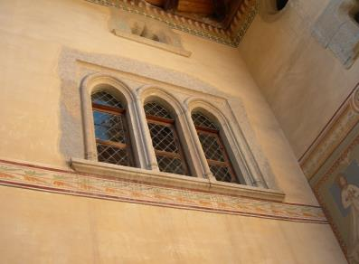 Three-arch window