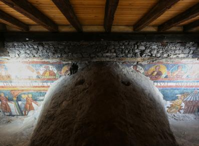Frescoes in the attic