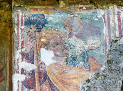 frescoes on the outside
